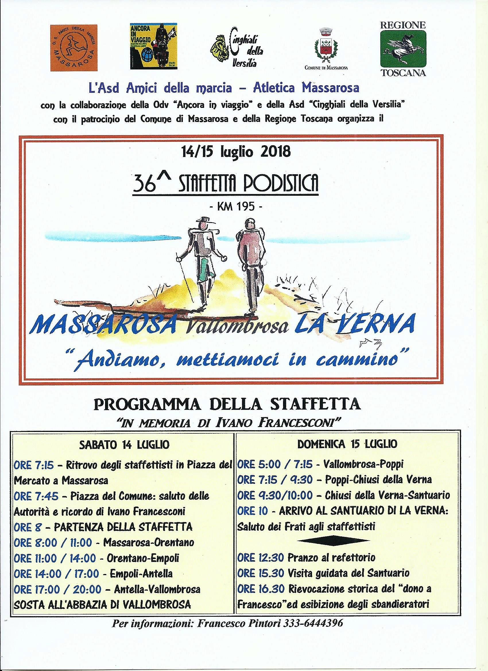 Calendario Podistico Toscana.G S Amici Della Marcia Atletica Massarosa